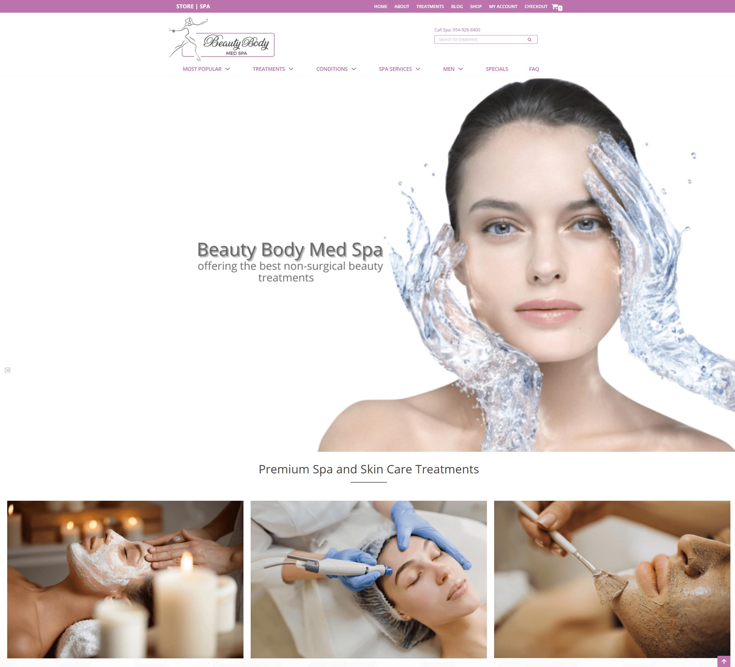 Beauty Body Med Spa website design